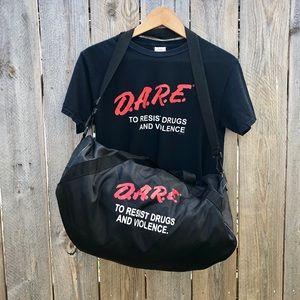 Vintage Dare to Resist Drugs Shirt & Bag bundle
